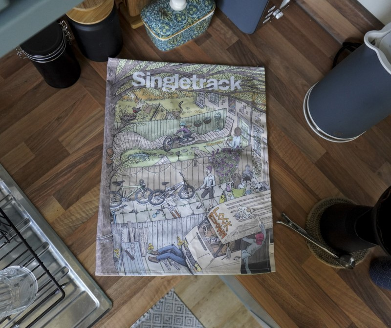 Singletrack Tea towel